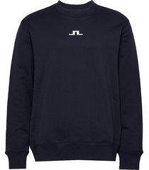 hurl bridge-jljl sweat sweat-shirt trui blauw j. lindeberg