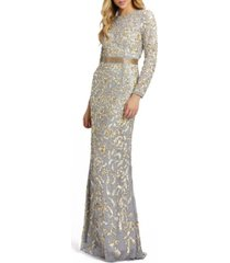 mac duggal allover sequin gown