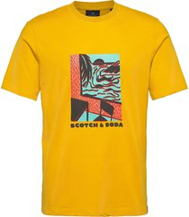 seasonal artwork tee t-shirts short-sleeved gul scotch & soda