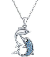 collar delfines amor casual celeste arany joyas