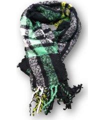bufanda negra trendy escocesa