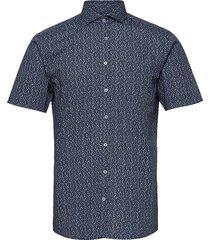 bs braddock kortärmad skjorta blå bruun & stengade