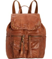 frye and co. odessa studded washed leather backpack
