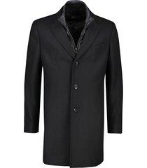 zwarte jas hugo boss lang model