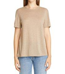 women's co essentials cashmere sweater t-shirt, size x-large - beige