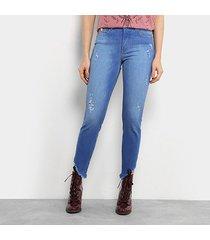calça jeans skinny colcci extreme power base bia cintura média feminina