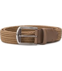 ermenegildo zegna woven cotton belt - brown