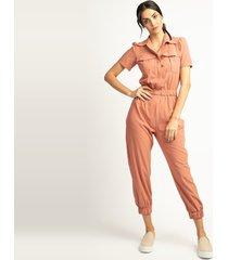 macacã£o vã©rtice jogger rosa - rosa - feminino - dafiti