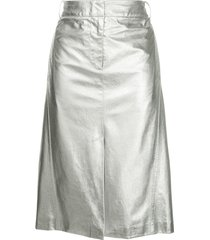 tibi high-waisted skirt - silver