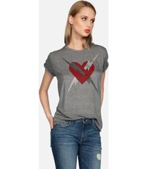 capri lightning love - l heather grey