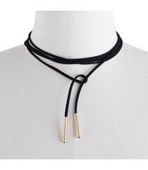 collar suéter de ajuste libre negro