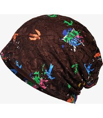 cappellino per berretti di stampa con cappuccio in jacquard di colore jacquard con cappuccio in pizzo colore chiaro per donna