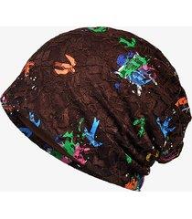 vestito di colore sottile della protezione del merletto del jacquard del cappello del turchese del cappello di stampa del cappello della protezione del cappello per la donna