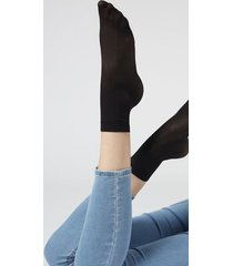 calzedonia women's patterned sheer socks woman nude size tu