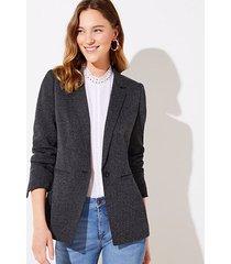 loft petite herringbone knit modern blazer