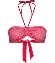 bandeau bikinitop rosa tommy hilfiger