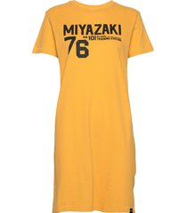 japan unit t-shirt dress knälång klänning gul superdry