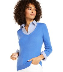 charter club v-neck cashmere sweater, regular & petite sizes, created for macy's