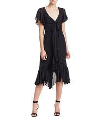 mateo ruffle midi dress