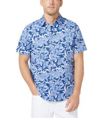 nautica men's big & tall navtech classic-fit stretch floral-print shirt