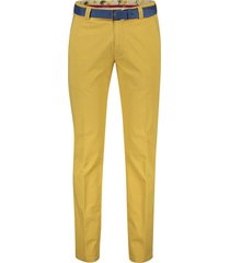 meyer pantalon new york mosterd geel
