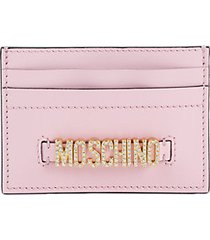 embellished leather card case