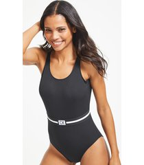 core reset scooped one-piece swimsuit