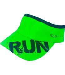 viseira running beat yourself verde - fastpace
