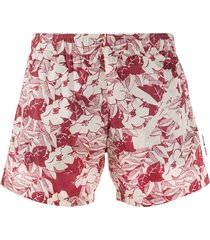off-white floral swim shorts - red