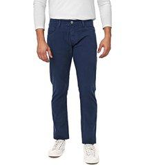 calça sarja forum slim paul azul-marinho
