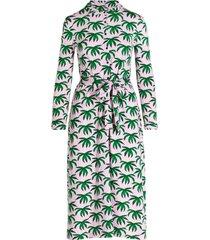 a-lijnblousejurk met palmbladeren