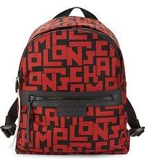 large le pliage logo-print backpack