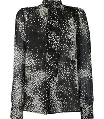 giambattista valli blusa mangas longas com estampa - preto