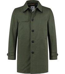 trenchcoat cotton twill groen (101238 - 524n)