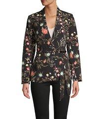 floral belted blazer