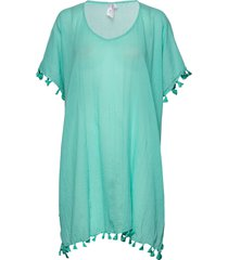amnesia kaftan beach wear blå seafolly
