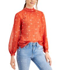 french connection delmira floral-print top