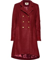 annabell coat yllerock rock röd cream