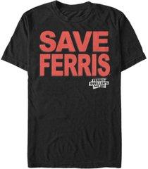 fifth sun day off men's save ferris text short sleeve t- shirt