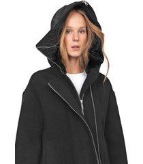 casaco colcci acinturada preto
