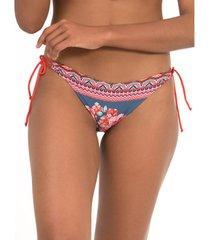 bikini selmark lage taille kousen greca mare blauw