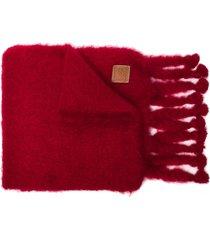 loewe mohair wool scarf - red