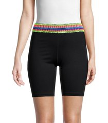 peixoto women's zoni biker shorts - black - size xl