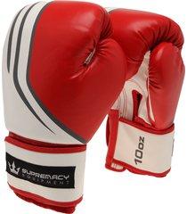guantes para saco rojo-blanco supremacy equipments 10oz