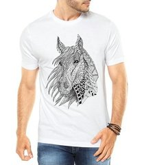 camiseta criativa urbana cavalo tattoo style illustration tribal