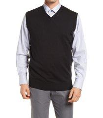 men's peter millar crown soft merino wool & silk sweater vest