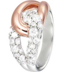 anello in argento 925 rosato e zirconi per donna