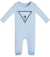 baby boys and girls printed logo long sleeve footie coverall