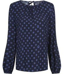 blusa azul tommy hilfiger riva blouse ls