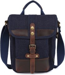 tsd brand valley trail canvas messenger bag